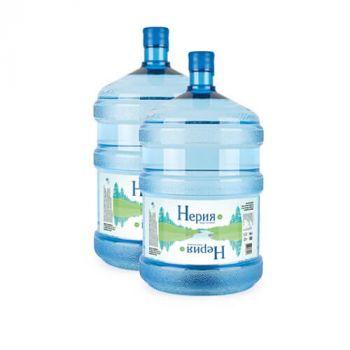 """Комплект из 2х бутылок Питьевая вода """"Нерия"""" 19 литров"""